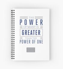The Power of Many is Greater than the Power of One- Belief Statement Spiral Notebook