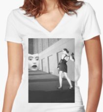The Mask - Self Portrait Women's Fitted V-Neck T-Shirt