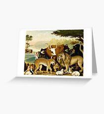 Edward Hicks - The Peaceable Kingdom  Greeting Card