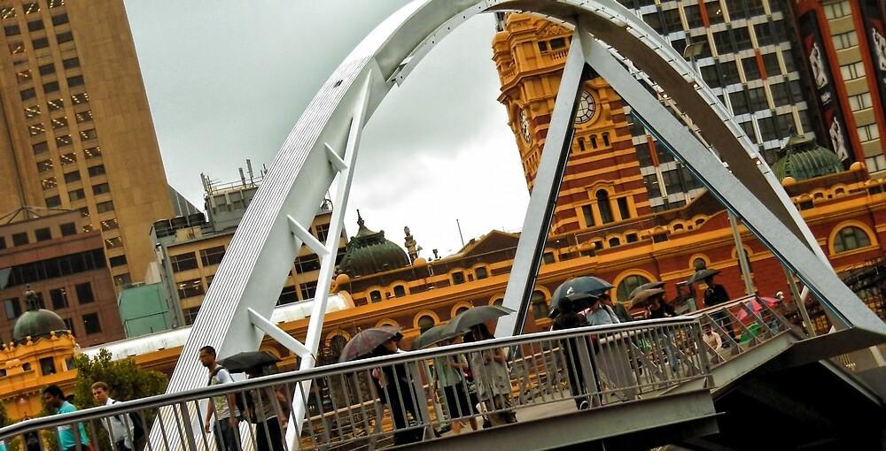 Southbank Footbridge by V1mage
