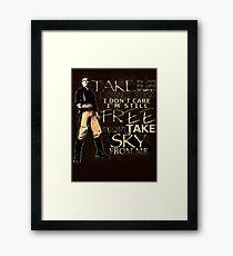 Take My Love Framed Print