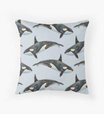 Orca auf Blau Dekokissen