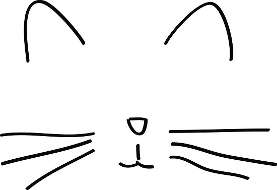 Chat Simple Drawing Tumblr Posters By Cecilemtx Redbubble