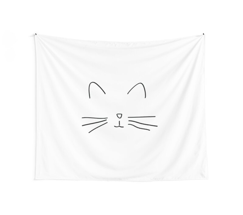 "Super chat dessin simple tumblr"" Wall Tapestries by cecilemtx 