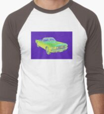 1965 Ford Mustang Convertible Pop Image Men's Baseball ¾ T-Shirt
