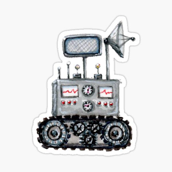 Space Rover Watercolor Sticker