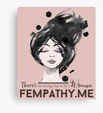 Rose Gold Pink, inspirational quote for women, ladies face Canvas Print