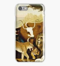 Edward Hicks - The Peaceable Kingdom  iPhone Case/Skin