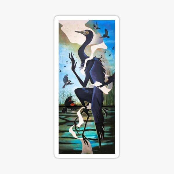 Little Blue Heron Princess Sticker