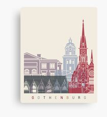 Gothenburg skyline poster Canvas Print