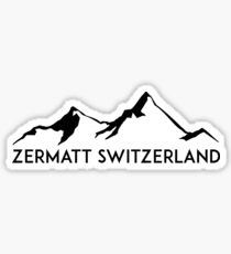 ZERMATT SWITZERLAND Mountain Skiing Ski Snowboard Snowboarding 2 Sticker