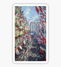 Claude Monet - The Rue Montorgueil Paris Sticker
