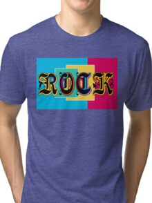 Colorful Happy Cool Rock Music Graphic Design Tri-blend T-Shirt