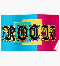 Colorful Happy Cool Rock Music Graphic Design Poster