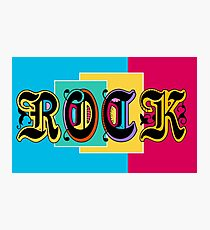Colorful Happy Cool Rock Music Graphic Design Photographic Print