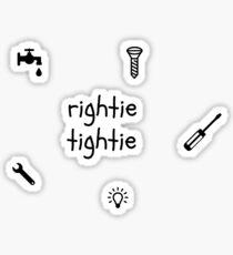 Rightie tightie for taps, screws, bulb, etc. Sticker