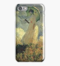 Claude Monet - Woman With A Parasol Also Known As Study Of A Figure Outdoors Facing Left iPhone Case/Skin