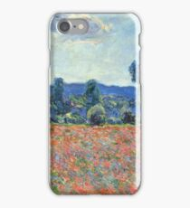 Claude Monet - Poppy Field In Giverny 03 iPhone Case/Skin
