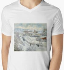 Claude Monet - View Of Argenteuil In The Snow T-Shirt