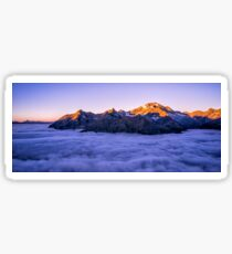 Mountain above the Clouds Sticker