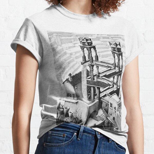Escher waterfall geometry geometric mathematic Classic T-Shirt