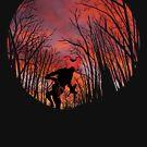 Demogorgon in the Woods by westonoconnor