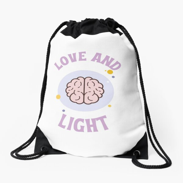 Love and Light Drawstring Bag