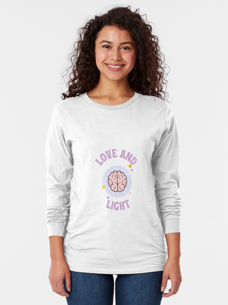 Alternate view of Love and Light Long Sleeve T-Shirt