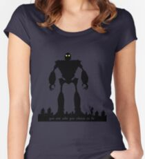 Iron Giant - Choose Who You are Women's Fitted Scoop T-Shirt