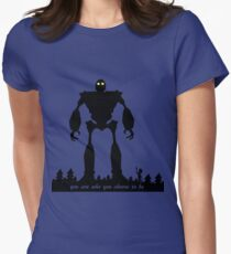 Iron Giant - Choose Who You are Women's Fitted T-Shirt
