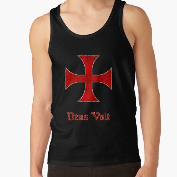 Deus Vult Crusader Templar Cross Tank Top