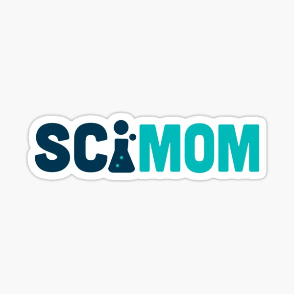 SciMom (horizontal) Sticker