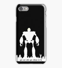 Iron Giant - Choose Who You are iPhone Case/Skin