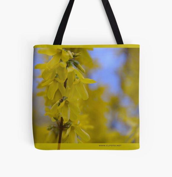 Yellow flowers near the Talvera River, Bolzano/Bozen, Italy All Over Print Tote Bag