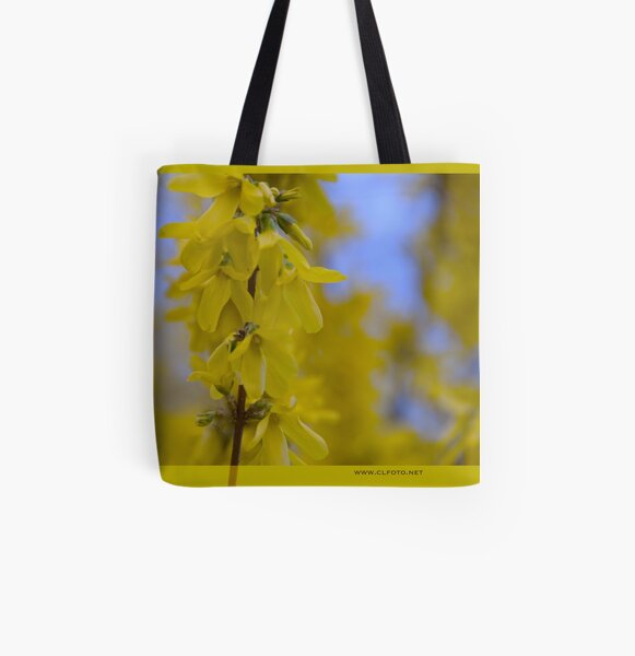 Yellow flowers near the Talvera River, Bolzano/Bozen, Italy All Over Print Tote Bag