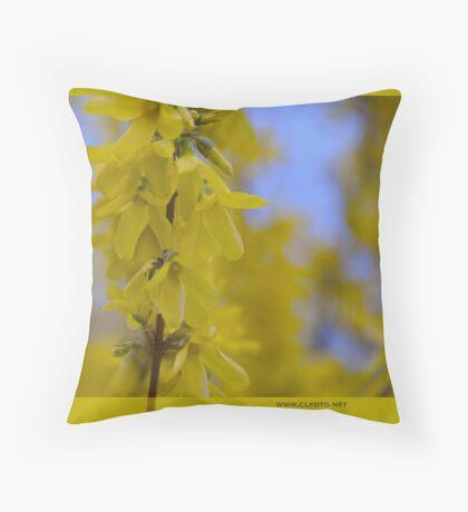 Yellow flowers near the Talvera River, Bolzano/Bozen, Italy Throw Pillow