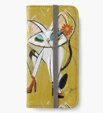 Rockin the Daisy Dukes: Retro Cat Mid Century Modern, Alma Lee iPhone Wallet