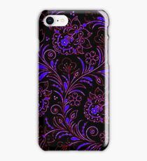 Dark floral contrast iPhone Case/Skin