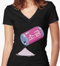D.VA • SALT Women's Fitted V-Neck T-Shirt