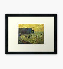 Claude Monet - The Cliffs At Etretat 1886 Framed Print
