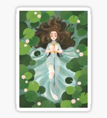 Lady of the lake Sticker