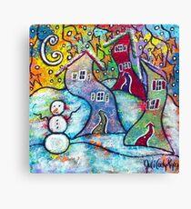 Wonderfully Wacky Winter Canvas Print