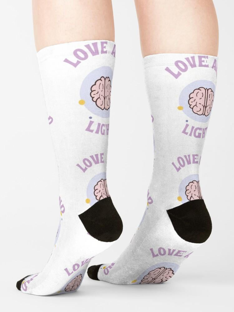 Alternate view of Love and Light Socks