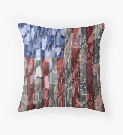 Never Forget American Sacrifice Throw Pillow