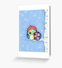 Owl in a Little Red Beret Greeting Card