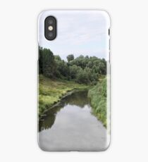 Rural river landscape iPhone Case/Skin