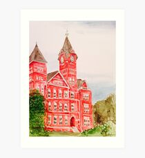 Samford Hall Auburn University Alabama Water Color/Acrylic Art Print