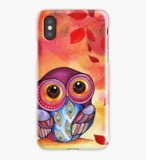 Owl's First Fall Leaf iPhone Case/Skin