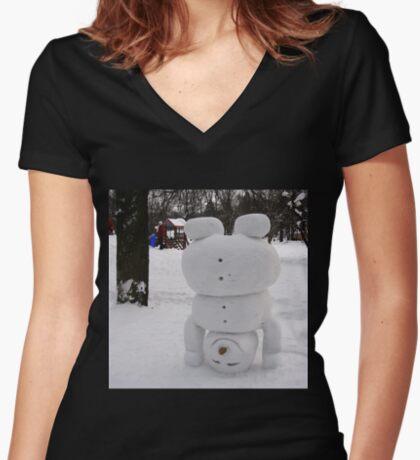 Hi :) Women's Fitted V-Neck T-Shirt