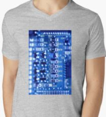 Circuit Board Mens V-Neck T-Shirt